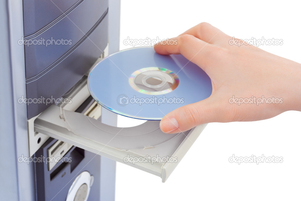 computer and cd rom