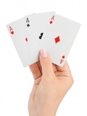 Hand with three aces