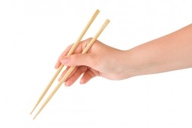 Hand with chopsticks