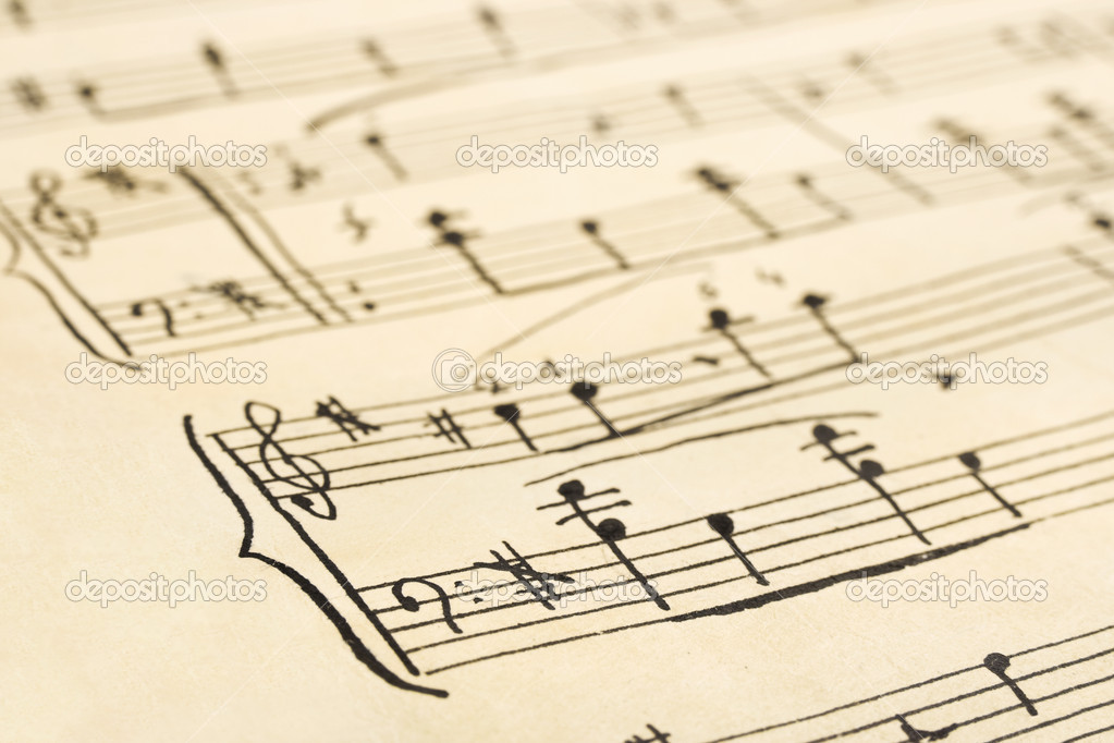 hoja de música retro — Fotos de Stock © Violin #4793751