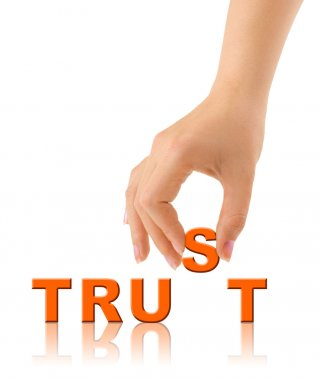 Hand and word Trust