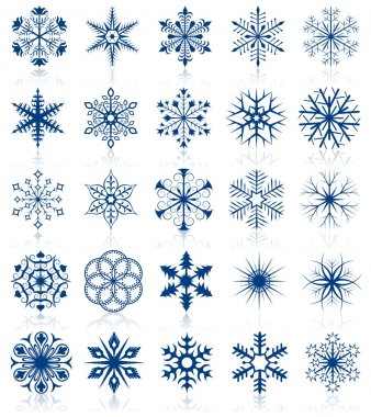 Snowflake shapes. Set 2.