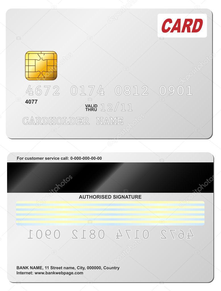 Blank Credit Card Vector Image By C Tuulijumala Vector Stock 2762549
