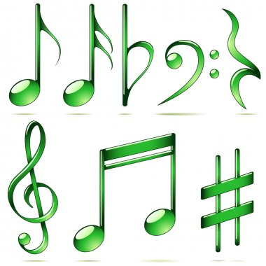 Music notation icons