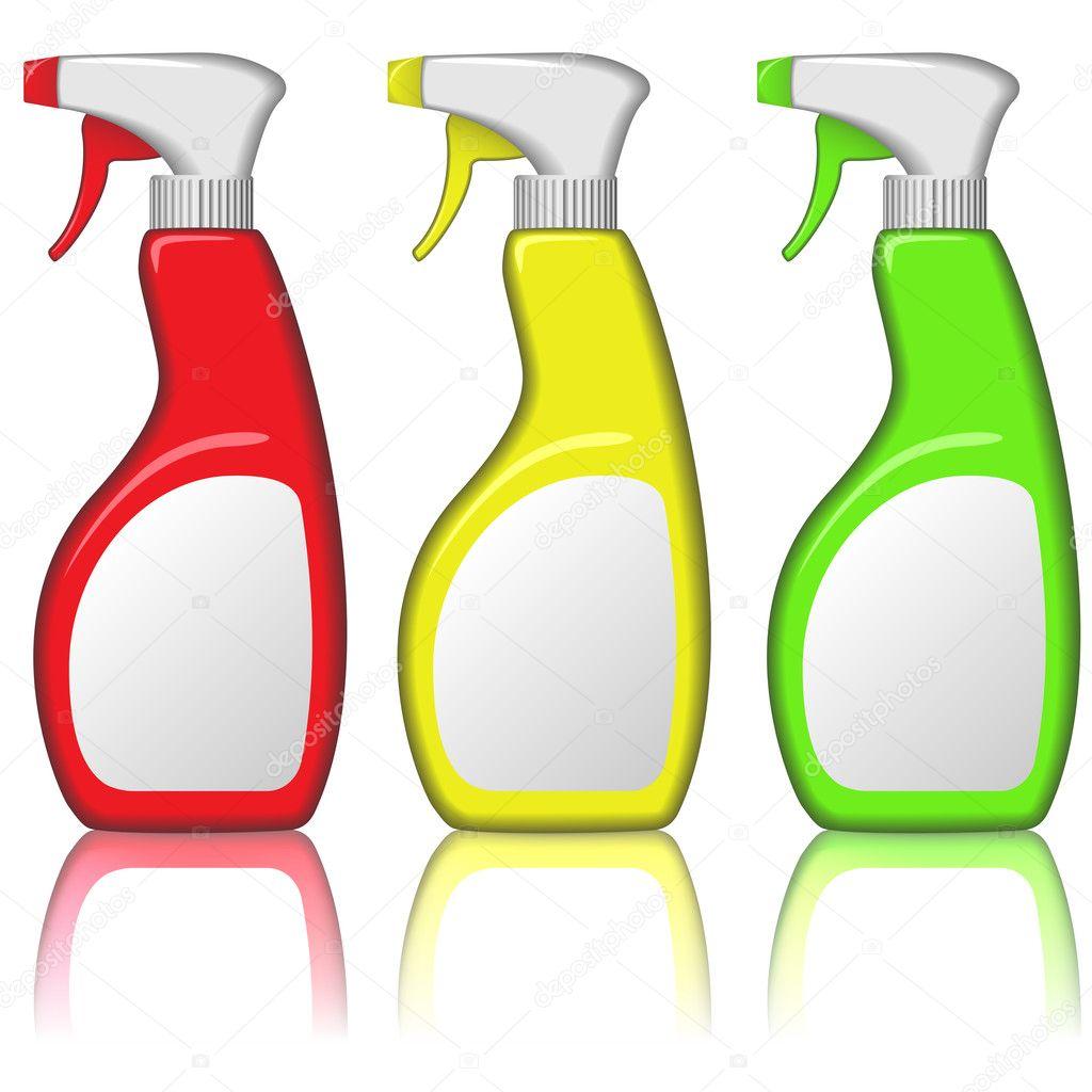 Blank spray bottles