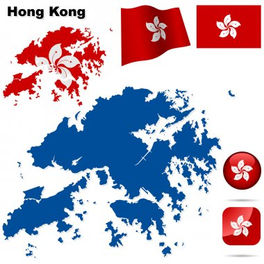 Hong Kong vector set.