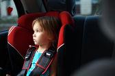 Fotografie dítě v auto auto sedačku v autě
