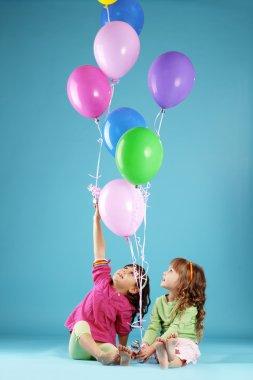 Happy colorful children