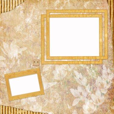 Vintage Background with frames