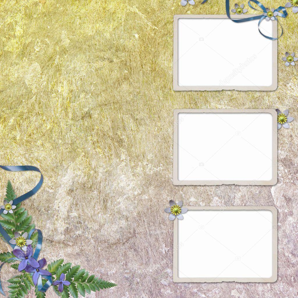 3 oud papier frame op grunge achtergrond — Stockfoto © welena #2910790