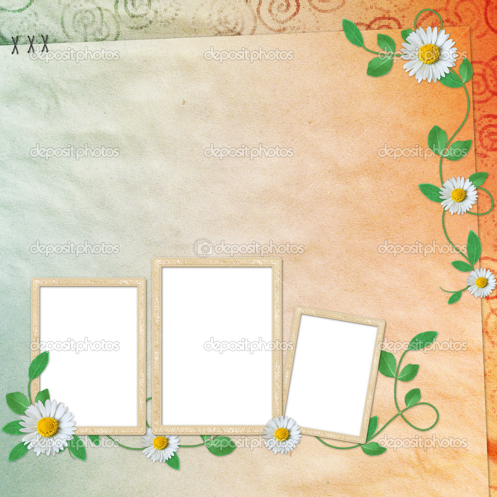 Summer background with frames