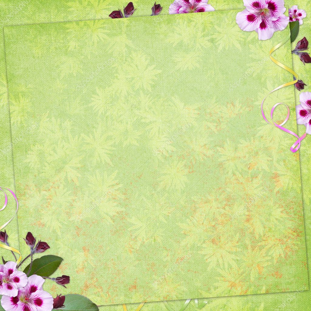 Green Abstract Background For Invitation Stock Photo