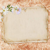 Old paper on textured background for invitation or congratulatio