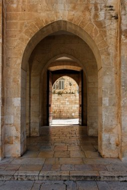 Ancient stone arch in Jerusalem