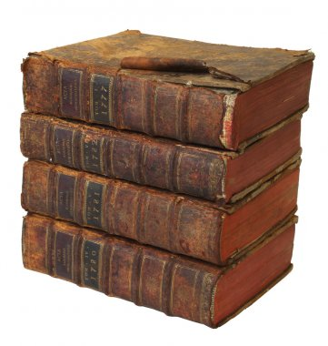Stack of books of 18-th sentery