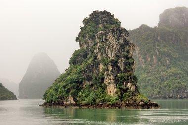 Halong bay in fog