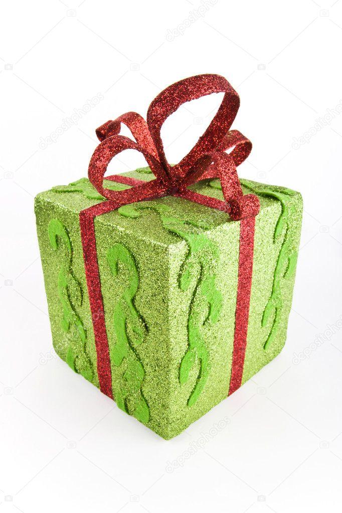 Green sparkling gift case