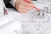 Photo The technical drawing