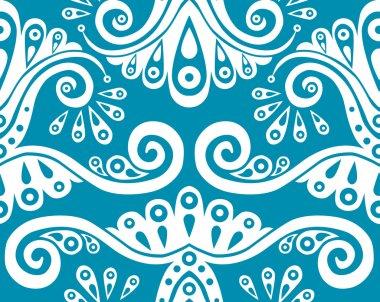 Blue seamless pattern