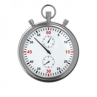 Stopwatch on white background