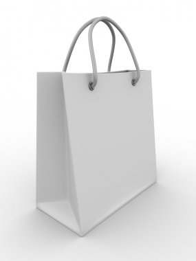 Shoping bag on white. Isolated 3D image
