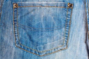 Empty jeans pocket