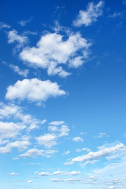 Blue sky with clouds, for backgrounds or textures stock vector