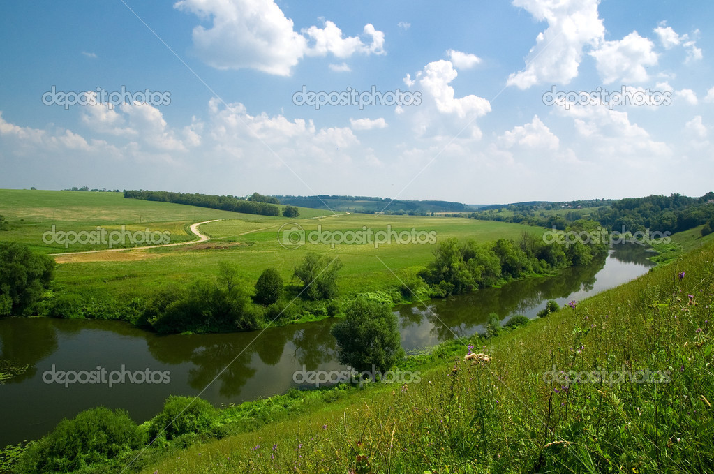 Russian landscape with river