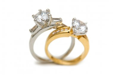 Two wedding diamond rings