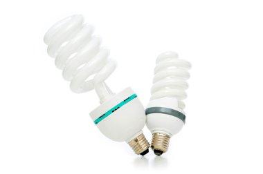 Energy saving lamp isolated