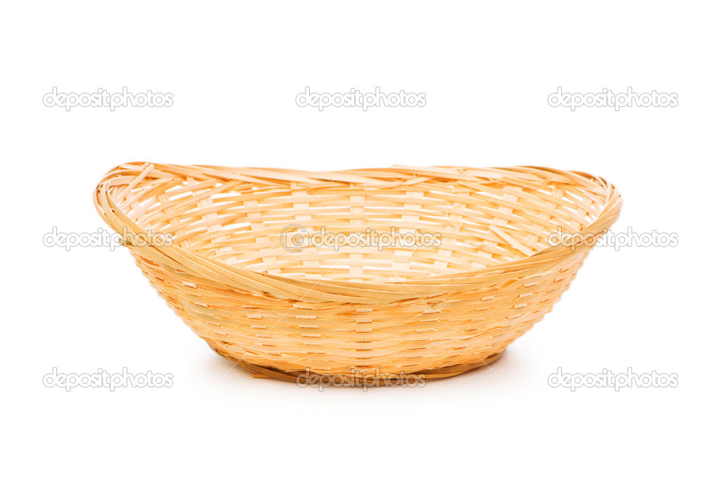 Woven basket isolated on the white
