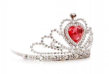 Silver diadem isolated on the white