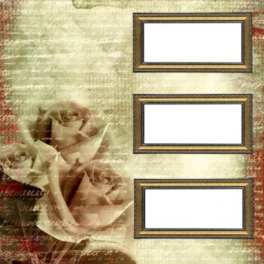 Frames on glamour grunge background