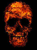 Fotografia teschio di fuoco