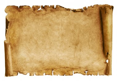 Old paper sheet isolated on white stock vector
