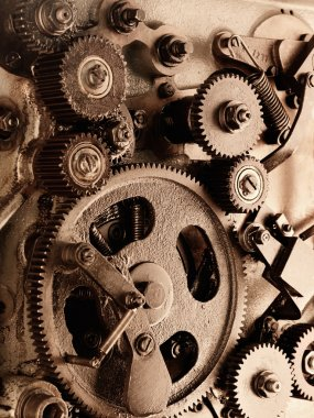 View of gears from old mechanism