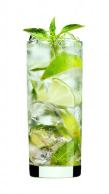 Fresh mojito cocktail isolated
