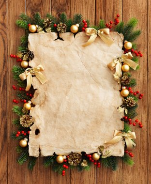 Paper and christmas decorations