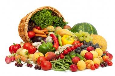 свежие овощи, фрукты и другое продовольствие