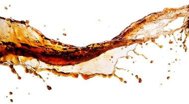 Cola splash isolated