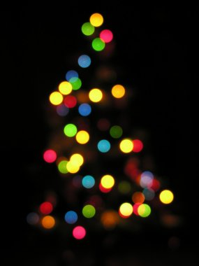 Christmas tree out of focus