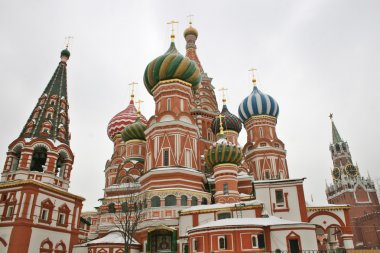 St. Basil's Cathedral on Red square, Moscow, Russia, winter