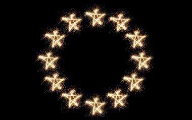 Euro union flag sparkler