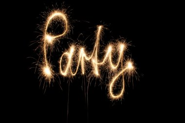 Party word sparkler
