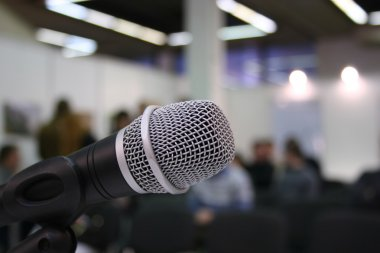 Microphone in auditorium