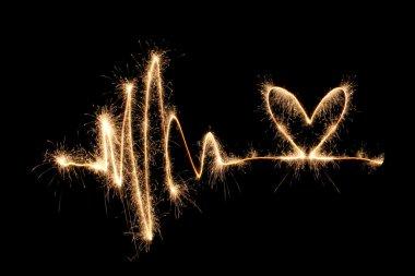 Wave heart sparkler 2