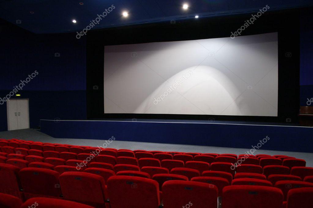 Cinema interior 3 stock vector