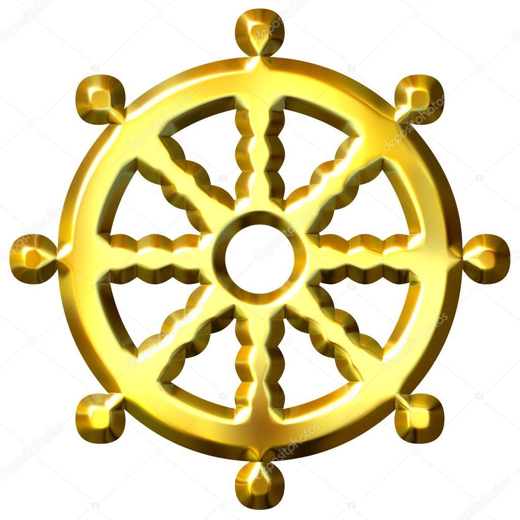 3d golden buddhism symbol wheel of dharma stock photo georgios 3d golden buddhism symbol wheel of dharma stock photo biocorpaavc