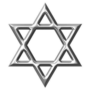 3D Silver Star of David