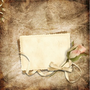 Beautiful card for congratulations or invitation on the vintage background